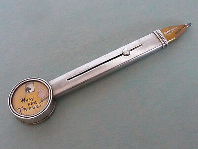 "Asprey ""what Are Trumps?"" Sterling Mechanical Bridge Pencil, Dial Changes Suits"
