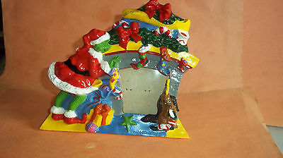 "Dr. Seuss - The Grinch & Max at a Fireplace Christmas Photo Frame - 5"" x 5 3/4"""