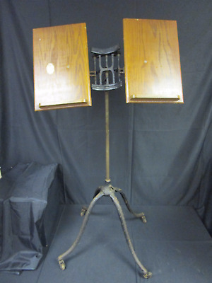 Antique Dictionary Book Stand Josiah Anstice & Co Cast Iron & Wood (690)