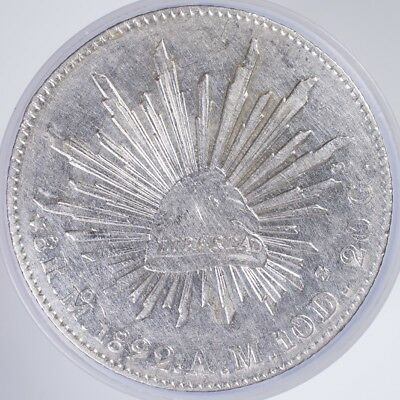 1892 Mexico 8 Reales VF/XF cleaned, .9030 Silver, .7859oz