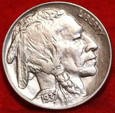 Uncirculated 1937-D  Denver Mint Buffalo Nickel Free Shipping