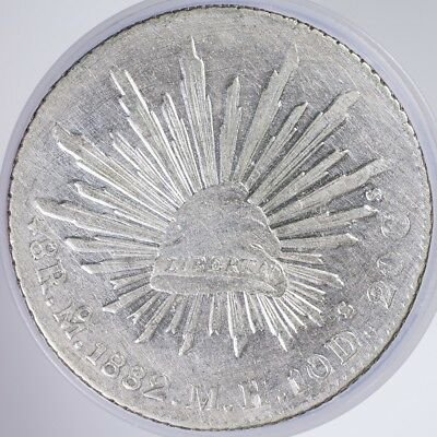 1882 Mexico 8 Reales VF cleaned, .9030 Silver, .7859oz