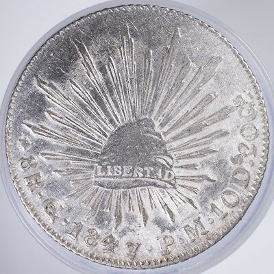 1847 Mexico 8 Reales VF/XF .9030 Silver, .7859