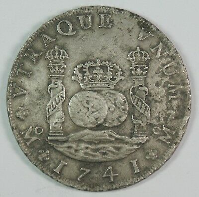 1741-Mo Mexico 8 Reales Pillar Dollar Silver Coin **Unknown Shipwreck**