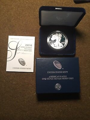 2016 W Proof 1oz Silver Eagle  ~  30th anniversary Lettered Edge DCAM