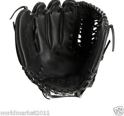Sporting Goods Cowhide 12.75 Inches Wear-Resisting Baseball Glove Black&$