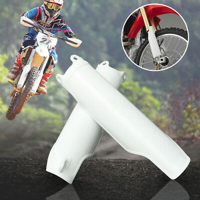 2x Fork Guards Cover For Honda CRF250 CRF450 04-12 CRF250 CRF450R White Plastic