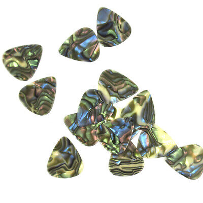 Lots of 100pcs 1mm Heavy Guitar Picks Plectrums Celluloid Seashell Abalone New