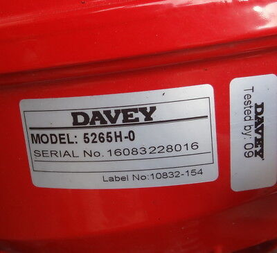 As New Davey 5265H Firefighter Twin Stage Self Priming Pump Honda GX200 Engine