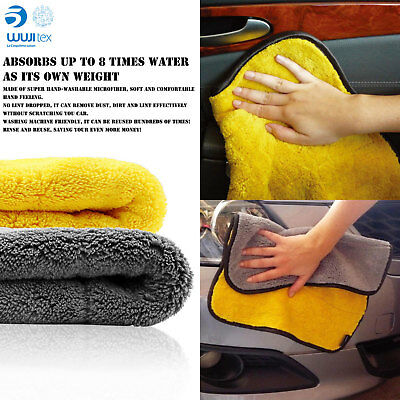 WUJI Super Soft Microfiber Absorbent Towel Car Kitchen Washing Clean Wash Cloth