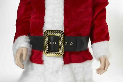 Deluxe Adult Christmas Santa Claus Caribbean Pirate Black Belt Costume Accessory