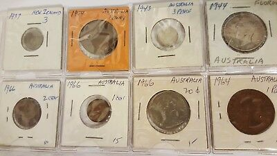 8 Australia and New Zealand coins 1937-1966 uncirculated