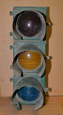Eagle traffic signal with shields 3 light collectible man cave industrial light