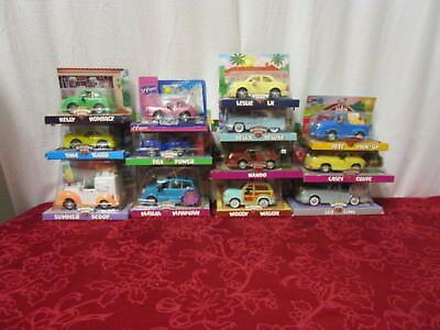 PRE OWNED in Box Chevron Cars [Lot]  Leo Limo, Woody Wagon, Summer Scoop (450)