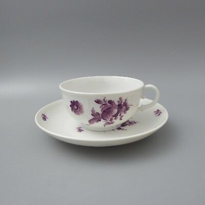 Nymphenburg Korb / Osier purpur Blume 1419 Teetasse 2tlg  (D)