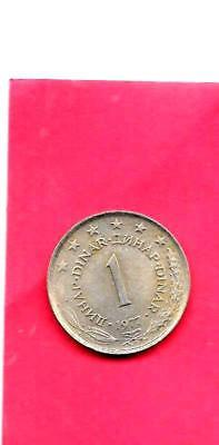 Yugoslavia Km59 1977 Unc-Uncirculated Mint Old Vintage Dinar Coin