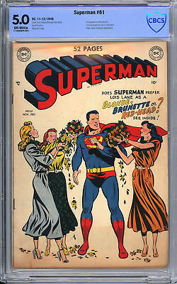 Superman #61 - 1st Kryptonite - CBCS 5.0!
