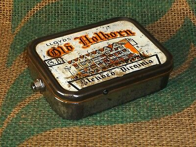 'old Tin Stomp Box'. Hand Made Stomp Box. From An Old 'old Holborn' Tobacco Tin.