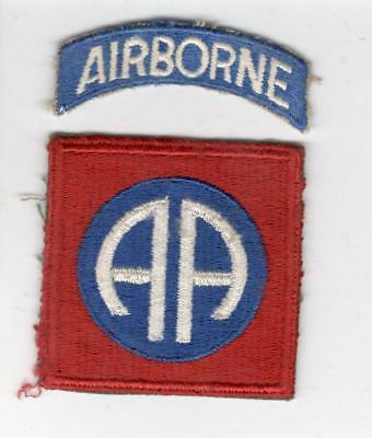 WW 2 82nd Airborne Division Patch & Tab Inv# X127