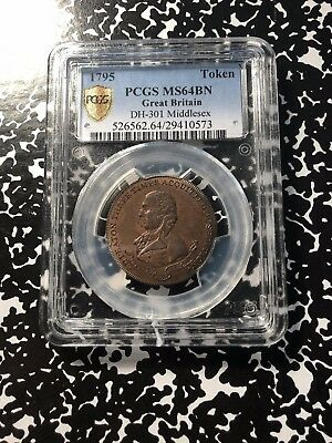 1795 Great Britain Middlesex Conder Token Halfpenny PCGS MS64 Bn Lot#G522 DH#301