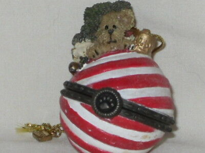 "Boyds Bears Peppermint StarLight Christmas Ornament ""Must See"""