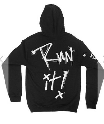 A Roryr Kramer Vision Black Run It Hoodie Size Small