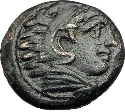 ALEXANDER III the Great 325BC Macedonia Ancient Greek Coin HERCULES CLUB i65138