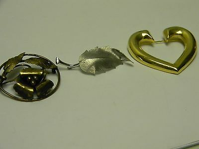Vintage Group of Brooches - 3 DIfferent Styles - hm Raleigh (flower)  #Z2610