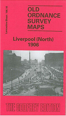 Old Ordnance Survey Map Liverpool North 1906 Conway Street Victoria Square