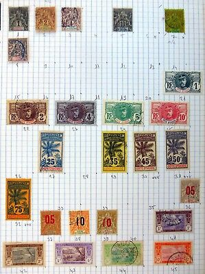 IVORY COAST Mint/Used Selection on 6 Pages Cat Over £545 NB4737