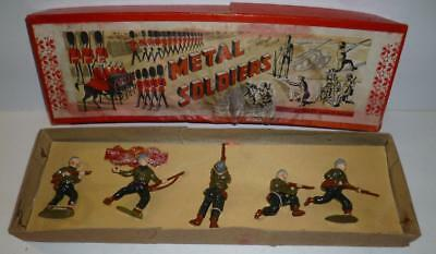 CHARBENS VINTAGE LEAD RARE BOXED SET OF AMERICAN GI SOLDIERS  1940/50's