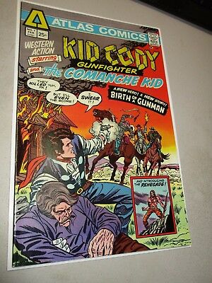 Kid Cody Gunfighter and the Comanche Kid #1 Very High Grade Bronze Age