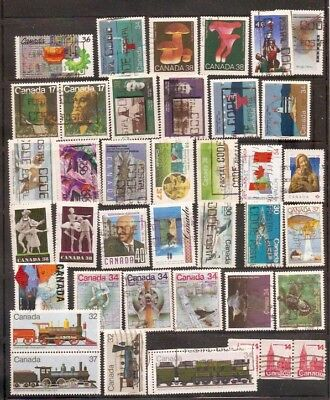 a stock page of recent used stamps from Canada.(cda-8)