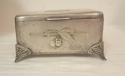 Antique Vintage Norblin & Co. Warszawa Etrog Box Judaica Silver Plate 1646