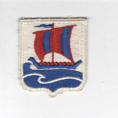 WW 2 US Army 99th Infantry Battalion Red Border Sail Patch Inv# X244