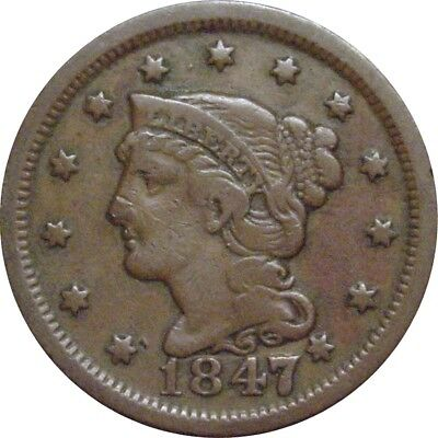 1847 Braided Cent--LG7 Over Sm7--Nice Fine