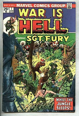 War Is Hell #7-1974 fn+ Marvel / Dick Ayers Sgt Fury Jack Kirby