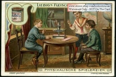 Children Physics Experiment Balance Vom Gleichgewicht 1903 Trade Ad Card g