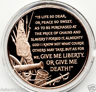 Patrick Henry Liberty or Death Speech St. John's Church Bronze Coin Medal