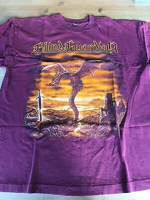 Blind Guardian Dragon & Sword Tour T-Shirt 1995  XL