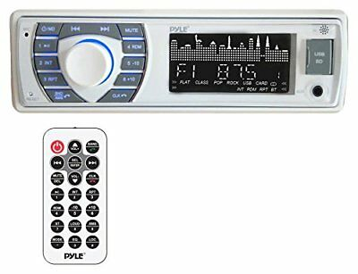 Bluetooth Marine MP3/USB/SD AM/FM Receiver Stereo White