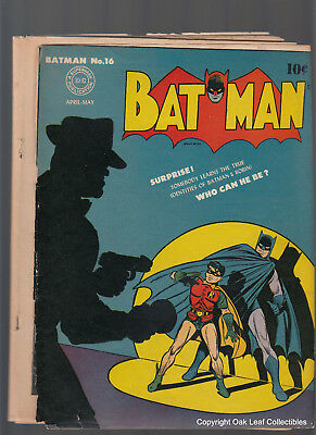 Batman 16 1st Appearance of Alfred 1943 Joker Appears Low grade nice!