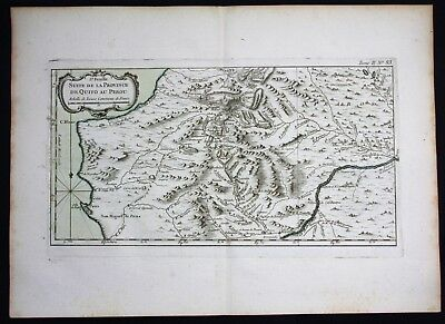 1764 - Peru Ecuador Loya Paita Bellin handcolored antique map