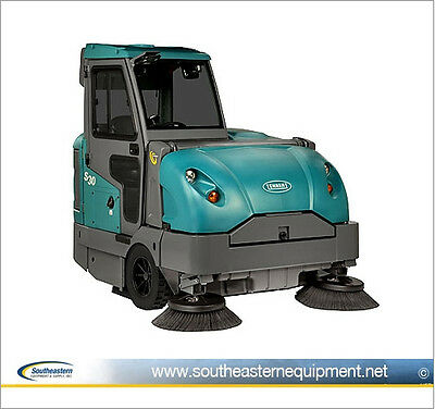 Reconditioned Tennant S30 Diesel Powered Rider Sweeper w/ Cab