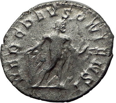 POSTUMUS  262AD Silver Authentic Ancient Roman Coin  Hercules Heracles i65355
