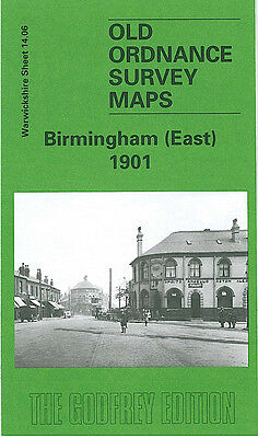 Old Ordnance Survey Map Birmingham East 1901 Bordesley Green Saltley Adderley Pk