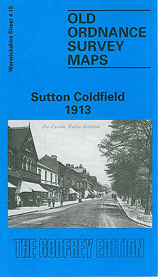 Old Ordnance Survey Map Sutton Coldfield 1913 Birmingham Clifton Road Boot Hill