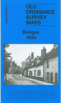 Old Ordnance Survey Map Bungay 1926 Earsham Dam Broad Street Ditchingham