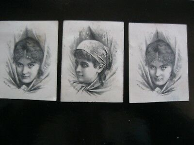 Victorian Trade Card 1800's Miss May M'lle Belocca Buckingham Gents Lady 40