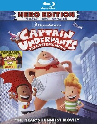 Captain Underpants: First Epic Movie (Blu-ray Disc ONLY, 2017)